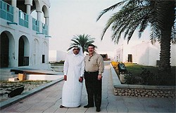 COURTESY OF PATRICK COFFEY - Coffey with a client in Qatar.