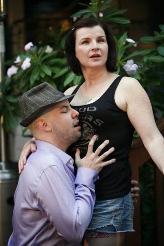 Cole Grissom as Don Giovanni and Elizabeth O'Neill as Zerlina - BETSY KERSHNER