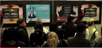 Commuters bemused by current BART ads. - TITAN OUTDOOR PROMOTIONAL VIDEO