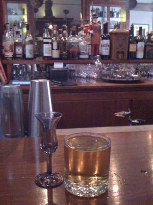 Comstock's Dutch headbutt, a shot of genever with a Trumer back, $6 before 6 p.m. - HANSEN L/YELP