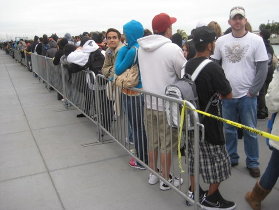 Contestants waiting to try out for American Idol in San Franicsco earlier this week