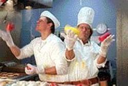 GLENN  WATSON - Cooking Up Trouble: Matt Damon and Greg - Kinnear play conjoined twins.