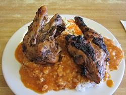 W. BLAKE GRAY - Cordon Bleu's No. 4: half a five-spice roast chicken ($7.60).