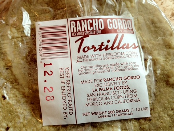 Corn tortillas by Rancho Gordo. - TAMARA PALMER