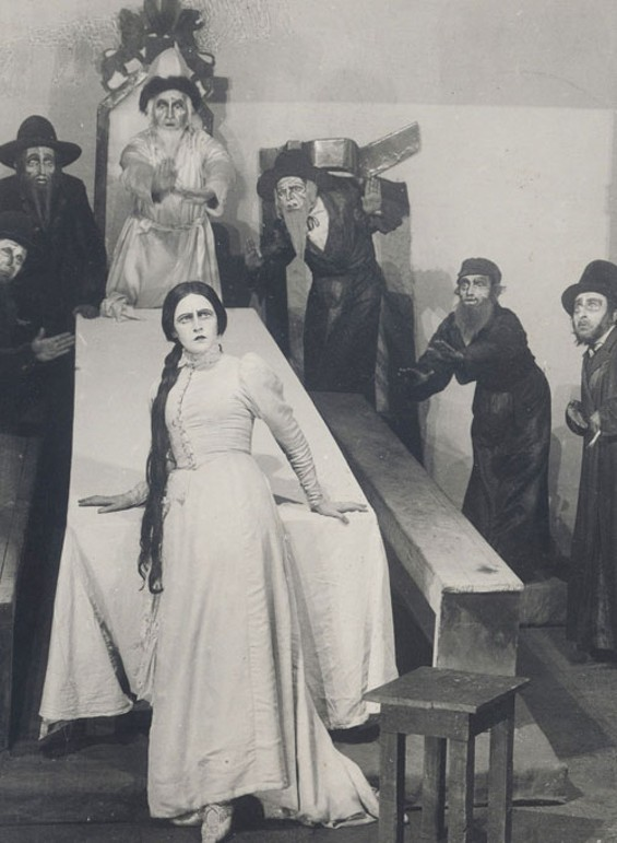 Court of the Tzaddik (Scene from The Dybbuk). 1922, photograph. - FEDERAL STATE INSTITUTION OF CULTURE