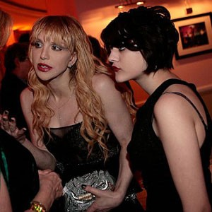 Courtney Love and Francis Bean.