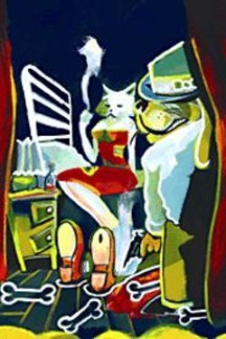 RIC  CARRASQUILLO - Cover art for the Pet Noir comic - book.