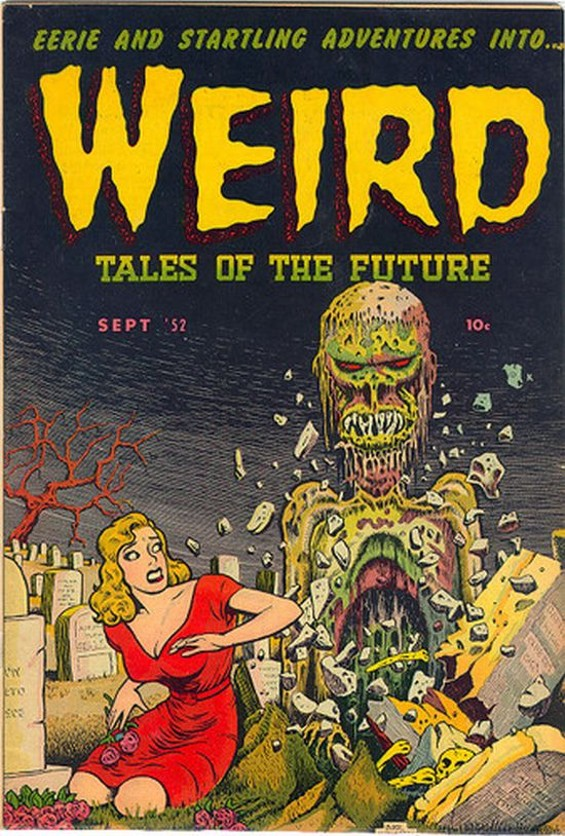 Cover of Weird Tales of the Future, September 1952 - BASIL WOLVERTON