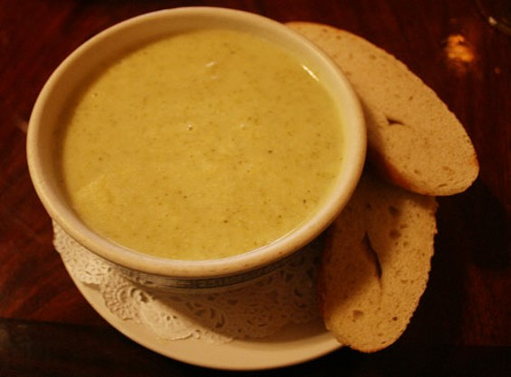 Creamy puree of broccoli soup. - JANINE KAHN