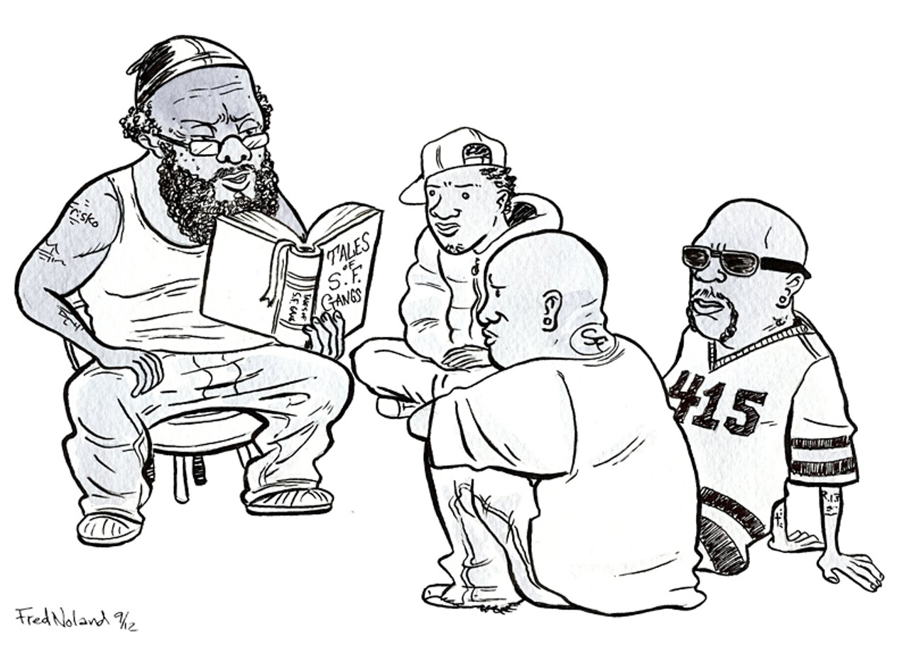 Crip less s f 39 s dislike of franchises extends to street - Blood gang cartoon ...
