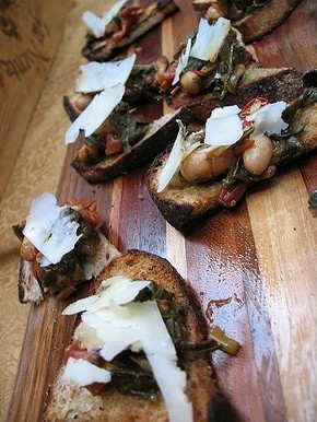 Crostini at last year's Sunday Supper. - CUESA/FLICKR