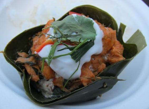 Curry fishcake