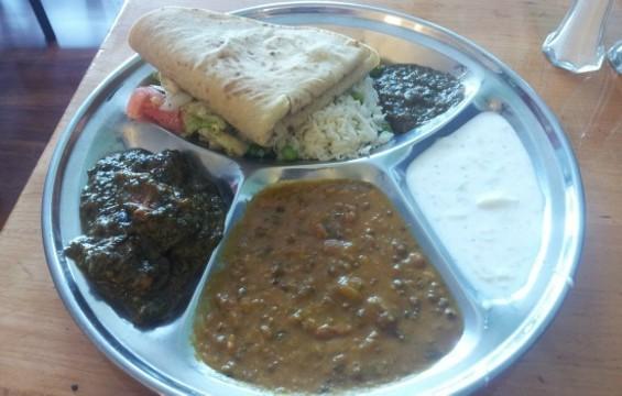 Dal makhani and palkh pork at Great Indian Food. - PETE KANE