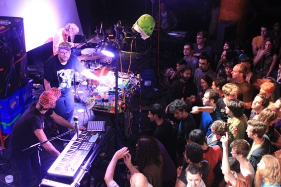 Dan Deacon and his fans at Great American Music Hall last night. All photos by Nathan Mattise.