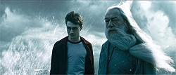 Daniel Radcliffe (left) returns once again as Harry Potter.