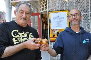 Dave Knopp, right, with Pal's Takeaway's Jeff Mason. - JESSE FRIEDMAN/BEER & NOSH
