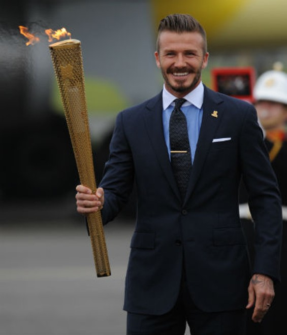 David Beckham can carry a torch for us anytime - LONDON 2012