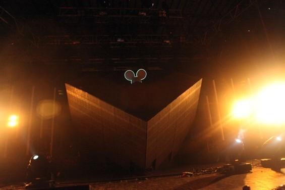Deadmau5' black cube turned into a trippy LCD screen - JOSEPH SCHELL