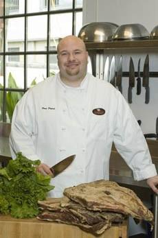 Dean Dupuis, mastering pork.