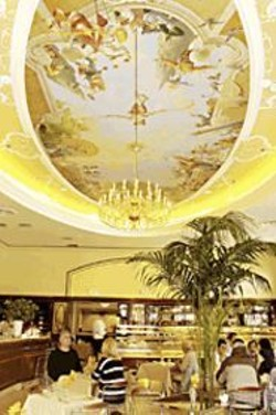 ANTHONY  PIDGEON - Deco Delight: The Gran Caffé is now - serving dinner in its striking dining room.