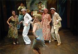 DAVID ALLEN - Delia MacDougall (center) does her best Mae West impersonation.