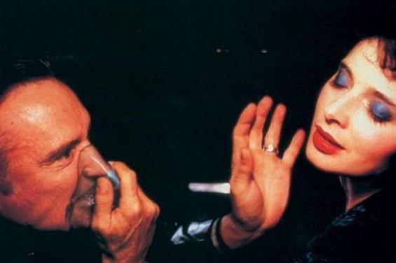 Dennis Hopper and Isabella Rossellini get kinky in Blue Velvet.