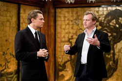 DiCaprio and Nolan on the set of Inception.