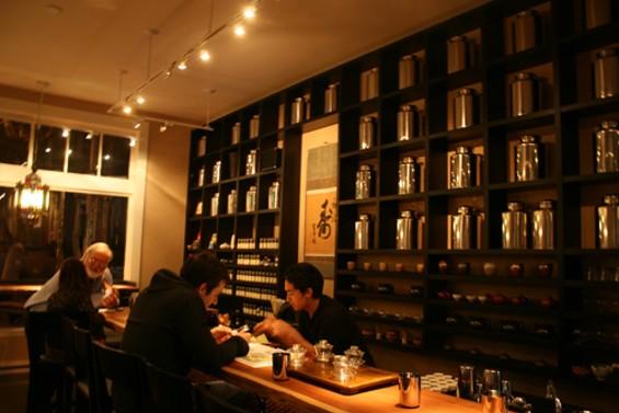 Digg founder Kevin Rose sits at Samovar's tea bar. - JANINE KAHN