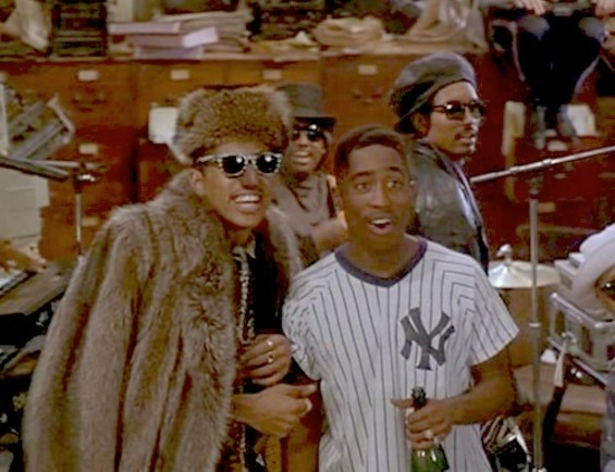 Digital Underground's Shock G and Tupac on the set of Nothing But Trouble (1991)