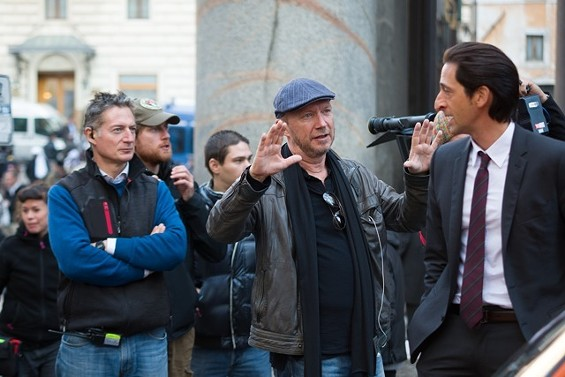 Director Paul Haggis and Adrien Brody - PHOTO BY MARIA MARIN, COURTESY OF SONY PICTURES CLASSICS