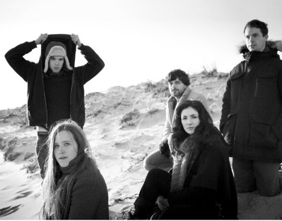 Dirty Projectors, with Amber Coffman at lower left