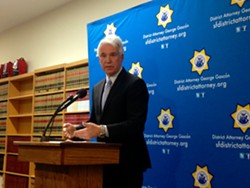 District Attorney George Gascon announces task force Monday at the Hall of Justice. - IDA MOJADAD