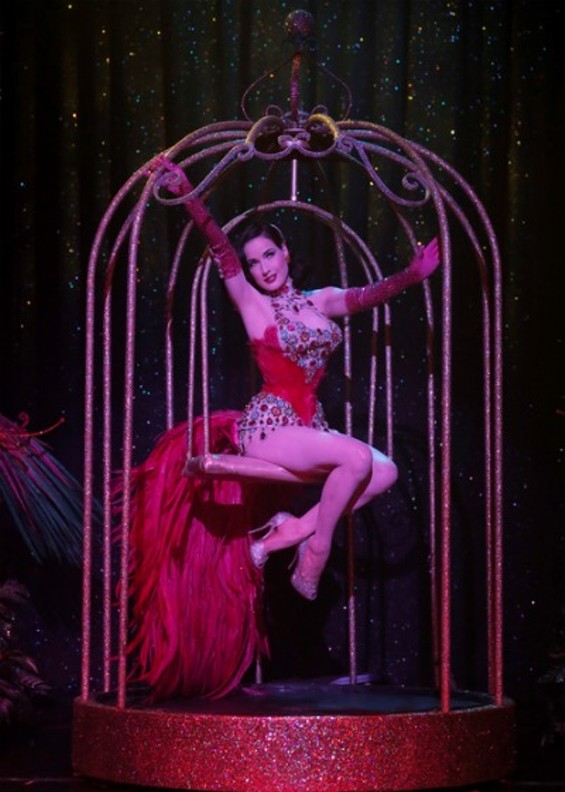 Dita in her gilded cage