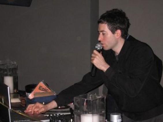 DJ Edan on mic, Mac and turntables