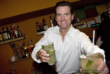 Don't count on support for the 'Alcohol Mitigation Fee' from Mayor Gavin Newsom - LUKE THOMAS