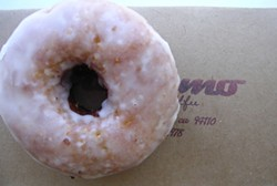 Doughnuts from Dynamo: The maple-bacon is in the top row, center - M.BIBELOT VIA FLICKR