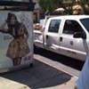 DPW Crew Caught Shopping, Applying Makeup While Parked in Bus Zone