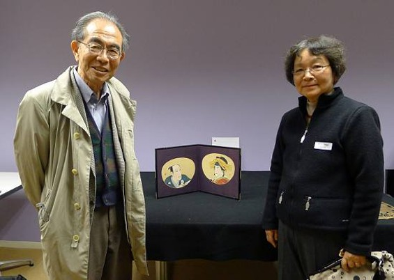 Dr. and Mrs. Hiroshi Nikaido received the painting they brought as a wedding gift 50 years ago.