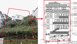 "PHOTO ON LEFT BY ANDREW J. NILSEN - Drake Gardner's design to replace this building at 125 Crown Terrace has been approved. The next step: ""Build it — and not get in trouble with the inspector for taking out more than you designated you were going to."""