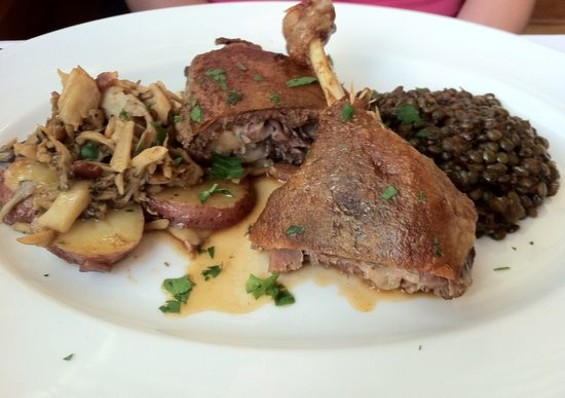 Duck confit from Fringale, $19. - JONATHAN KAUFFMAN