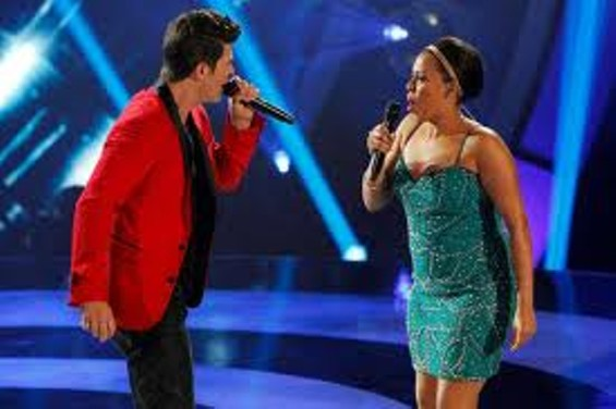 ROBIN THICKE AND HIS SECOND CONTESTANT. WHATEVER.