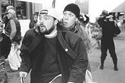 TRACY  BENNETT - Dumb and Dumber: Jay (right) and Silent Bob strike out.