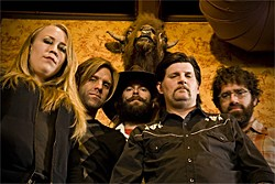 Dylan Carlson (second from right) reinvents Earth.