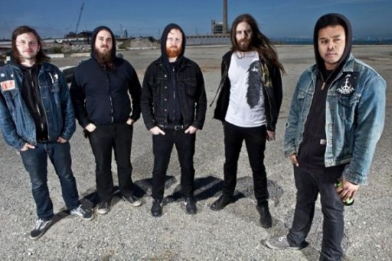 Early Graves, with vocalist Makh Daniels on the far right