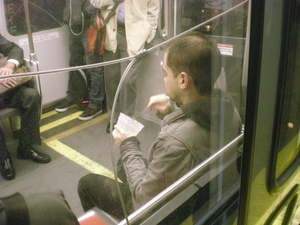 """Eat oatmeal on the train when you """"travel like a local"""" - JIM HERD"""