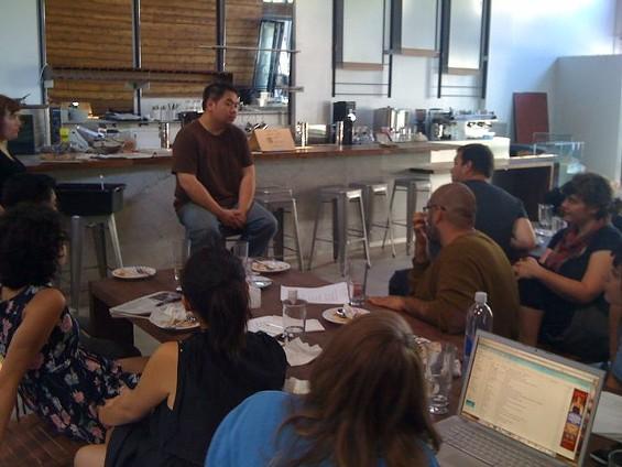 Eddie Lau, conducting staff training at the Summit. - THE SUMMIT