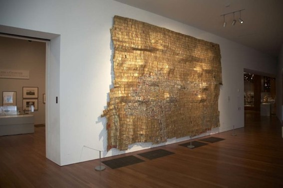 El Anatsui's Hovor II - COURTESY OF DE YOUNG MUSEUM