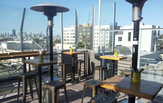 El Techo de Lolinda's expansive rooftop patio. - PETE KANE