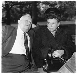 © THE ESTATE OF DIANE ARBUS - Elderly couple on a park bench, N.Y.C., Diane Arbus, 1969