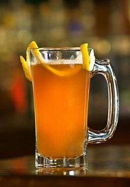 Elixir's seasons-spanning Kentucky Pilgrim, a spiced bourbon drink.